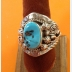 Navajo Native America Mens Sterling Turquoise ring