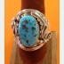 Navajo Native American Mens Sterling Turquoise Ring