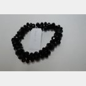Black hand cut crystal stretch bracelet