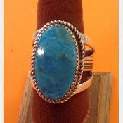 Navajo Native American Sterling Turquoise Mens ring