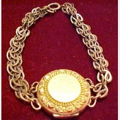 Vintage Locket Bracelet Gold Filled
