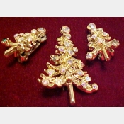 Christmas Tree Brooch/Pin with matching earrings